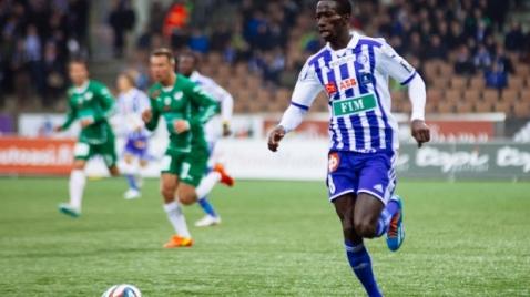 Demba Savage marcó el gol de la victoria contra IFK. Foto: web oficial HJK (www.hjk.fi)