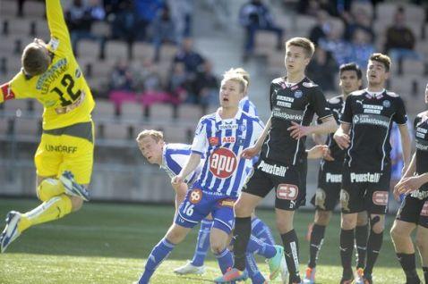 TPS sorprendió al HJK. Foto: www.yle.fi | Str / Lehtikuva