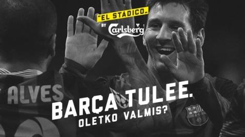 Cartel promocional del HJK-Barça. Fuente: www.hjk.fi