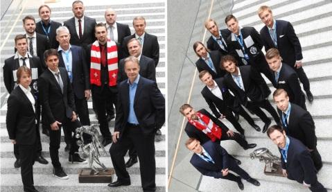 Entrenadores y capitanes. Foto: Veikkausliiga